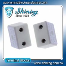 TC-652-A Résistant à la chaleur 600V 65A Bloc de bornes vidéo en céramique à 2 pôles