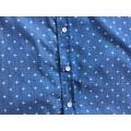 Chemise à manches courtes pour homme en tissu denim