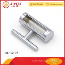 Liga de zinco fechamento decoração cromo saco hardware