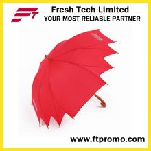 Anomale manuelle offenen Regenschirm mit Logo