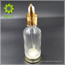 Botella de dropper de cristal cosmética vacía coloreada clara superventas 30ml 50ml 50ml