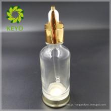 30ml 50ml melhor venda claro colorido vazio frasco conta-gotas de vidro cosmético