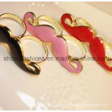 Anneau à doigts / Alliage à deux doigts plaqué avec un anneau en émail / bijoux à la mode (XRG12047)