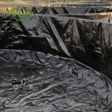 Forro de tanque de camarão em folha de poliuretano tecido hdpe preto