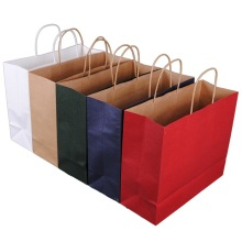 Ecofriendly+Kraft+Paper+Bags+With+Twisted+Handle