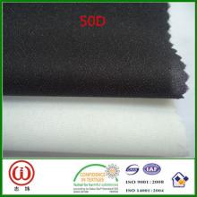 Tecidos interlining fusíveis tecidos poliéster fusível da característica 50D do fusível