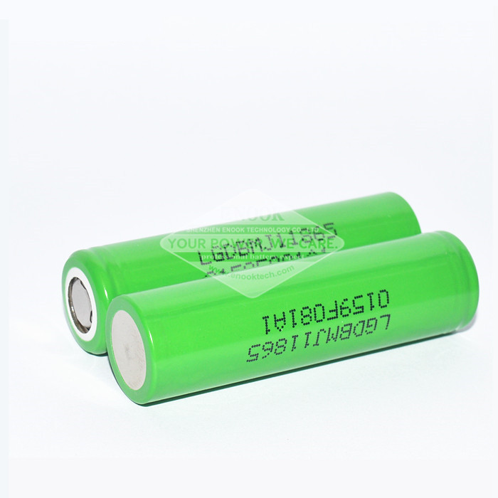Green LG MJ1 18650 3500mAh Battery