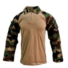1/4 Zip Camouflage Military Tactical Response Combat Shirt Uniform