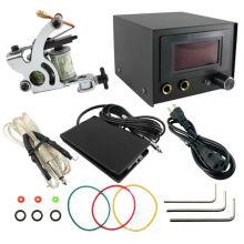 PS108001 kit de tatuaje completo bobinas máquina pistolas fuente de alimentación