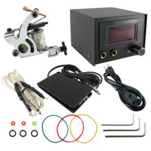 PS108001 Complete Tattoo Kit Coils Machine Guns Power Supply