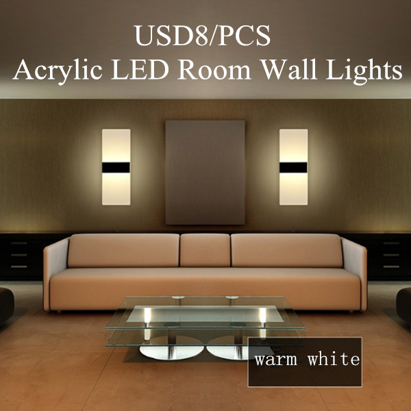 Acrylic LED Room Wall Lights