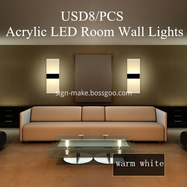 Acrylic LED Room Wall Lights
