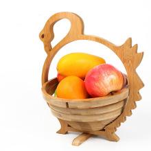 cesta de fruta de madera plegable decorativa