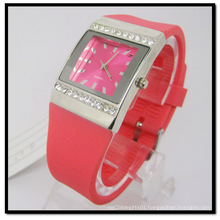 Red Stone Quartz Silicone Band Gift Watch