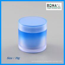 Pot de masque facial de pot en plastique de 70g 80g