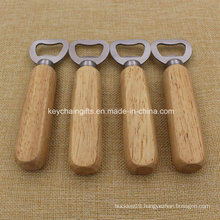 Customized Bottle Opener with Wooden Handle Printing Your Logo