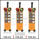 Ningbo Uting 2015 new products F26-A3 hydraulic industrial wireless crane radio remote control