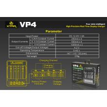 Chargeur LCD Xtar Vp4 à 4 baies pour batteries 10440/18650/26650 Li-ion, 3 courants de charge optionnels