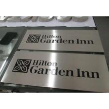 Non-Illuminated Stainless Steel Engrave Plaque for Directional ID