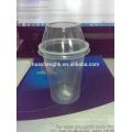 Heißer verkauf billig kunststoff klar 10 unze einwegbecher mit deckel kunststoff