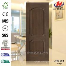 JHK-S03 12MM Grano de Pommele con la mejor calidad de la venta El panel de la puerta de la chapa de la castaña del sureste de Asia HDF Chestnut