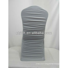 Wrinkle free chair cover, spandex chair cover with pleats