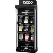 Zuverlässige schwarze Tabellen-Oberseite Kundenspezifischer Einzelhandels-Speicher-Acrylweinlese-Zigaretten-Feuerzeug-Vitrine