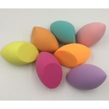 Губка для макияжа без латекса в форме оливкового цвета, гидрофильная губка без латекса, блендер для красоты