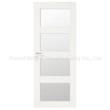 Diseño moderno blanco Interior puerta de la habitación con vidrio