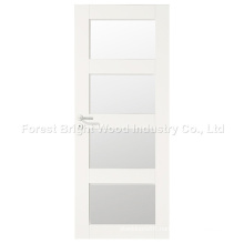 Modern Design White Interior Room Door with Glass