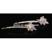 2015 Fashion Ornament Crystal Bobby pin Rhinestone Barrette