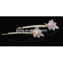 2015 Fashion Ornament Crystal Bobby pin Rhinestone Barrette