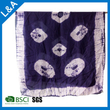 Silk Tie Dye Scarf Shawl Big Size Sex Girl for Women Sarong