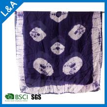 Silk Tie Dye Scarf Shawl Big Size Sex Girl para Mulheres Sarong