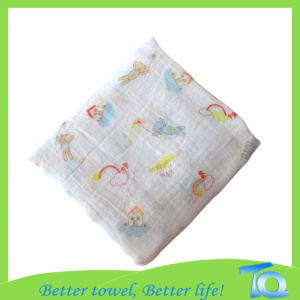 Organic Cotton Printed Muslin Baby Blankets Baby Products