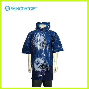 Emergency Disposable Waterproof Poncho with Logo Print