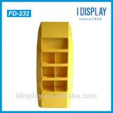 Customized Compartment Corrugated Cardboard Floor Display Shelf For bady wash