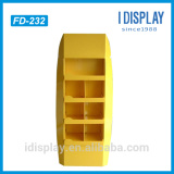 Customized Compartment Corrugated Cardboard Floor Display Shelf For bady wash
