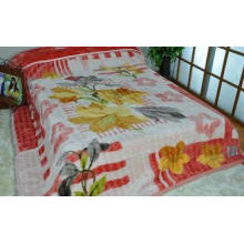 Red Adults Travel 100% Polyester Original Blanket With Doub