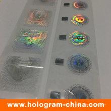Estampilla en caliente 3D antifalsificación personalizada del holograma en 3D