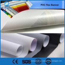 Comercio garantía 440gsm 13OZ 250 * 250D 36 * 36 doble impresión imprimible pvc flex banner para publicidad