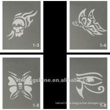 Schmetterling Glitter Tattoo Designs