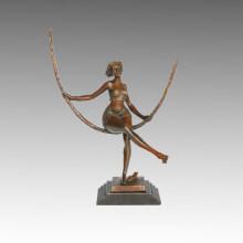 Tänzer-Statue Swing-Mädchen Bronze-Skulptur, Milo TPE-524 (B)