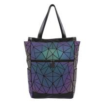 Геометрическая светящаяся ручная сумка и сумка из полиуретана