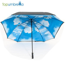 high quality Auto open advertising straight golf square umbrella