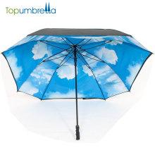 high quality Auto open advertising straight golf square umbrella