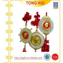 Vorsitzender Mao Metall Münze Souvenirs mit Jade und chinesischen Knoten