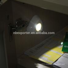 Avec capteur de mouvement et capteur de lumière 3 * AAA Batterie Alimentation SMD ABS LED Capteurs de mouvement pour éclairage intérieur