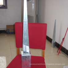 steel ground spike, pole spike, also named pole anchor and ground anchor