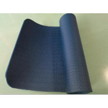 NBR plain coloured embossed yoga mat